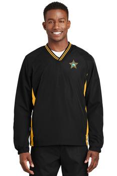 SEMINOLE Sport-Tek® Tipped V-Neck Raglan Wind Shirt