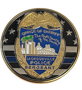 OFFICE OF SHERIFF  JACKSONVILLE  POLICE SERGEANT COIN