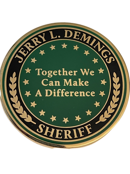 SHERIFF JERRY DEMINGS COIN ORANGE SHERIFF COIN