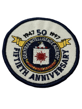 CIA 5OTH ANNIVERSARY   PATCH FREE SHIPPING!