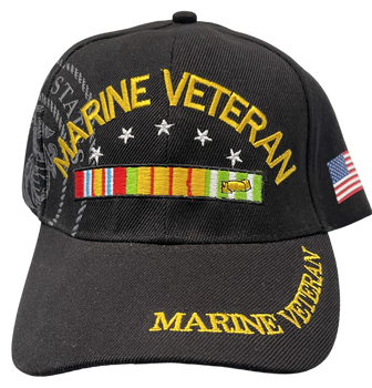 MARINE CORPS VETERN WITH FLAG HAT
