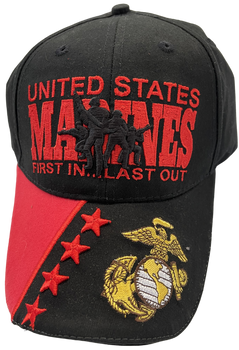U. S. Marine Corps Hat 3-d FIRST IN LAST OUT