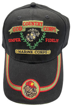 MARINE CORPS VETERN GOD COUNTRY CORPS BULLDOG HAT