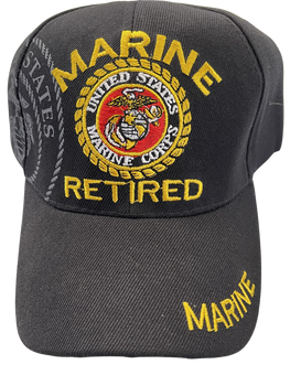 RETIRED MARINE CORPS SEAL WITH LETTERS HAT