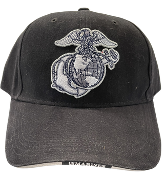 MARINE CORPS HAT EAGLE GLOBE & ANCHOR BRIM WORDS