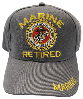 RETIRED MARINE CORPS HAT GRAY