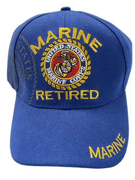RETIRED MARINE CORPS SEAL WITH LETTERS ROYAL HAT
