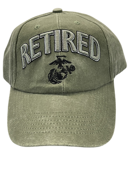 RETIRED MARINE CORPS DRAB HAT EGA