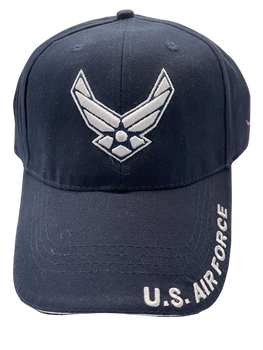 US AIR FORCE HAT WHITE LOGO AND WORDING