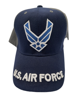 US AIR FORCE HAT LOGO AND WHITE WORDING