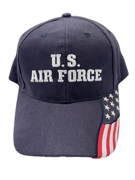 US AIR FORCE HAT LOGO AND FLAG