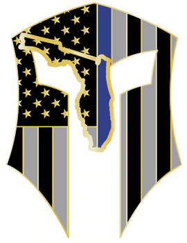 FLORIDA FACE WARRIOR DECAL GOLD