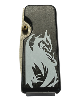 MONEY CLIP DRAGON KNIFE  BLACK