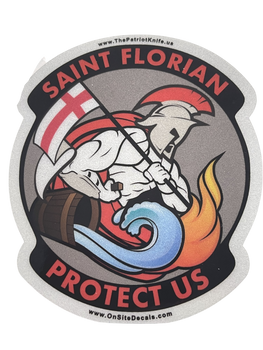 ST FLORIAN FIRE STICKER