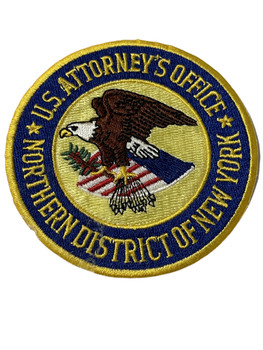 US ATTORNEY NORTHERN NEW YORK  PATCH FREE SHIPPING!