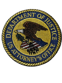 DEPT. OF JUSTICE U.S. ATTORNEY  PATCH FREE SHIPPING!