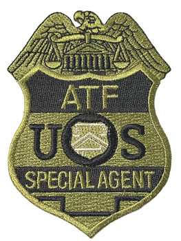 ATF SPECIAL AGENT SUBDUED PATCH FREE SHIPPING!