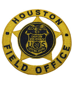 U.S. TREASURY HOUSTON SPECIAL AGENT  PATCH FREE SHIPPING!