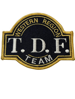 INS WESTERN REGION T.D.F. TEAM PATCH RARE FREE SHIPPING!