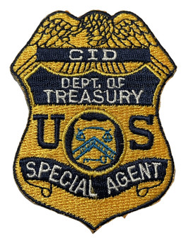 TREASURY CID SPECIAL AGENT PATCH FREE SHIPPING!