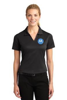 Motorola Sport-Tek® Ladies Dri-Mesh® V-Neck Polo