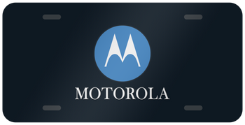 MOTOROLA LICENSE PLATE