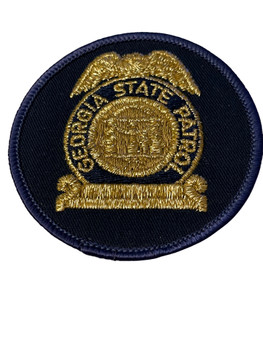 GEORGIA STATE PATROL GOLD BADGE PATCH