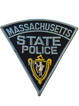 MASSACHUSETTS STATE POLICE BLUE BORDER PATCH