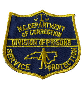 NORTH CAROLINA DEPT OF CORRECTIONS DIV PRISONS PATCH