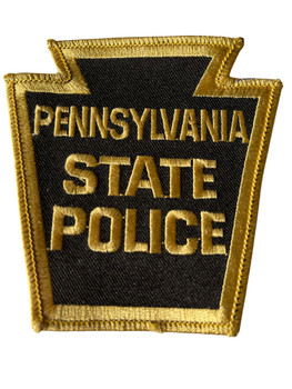 PENNSYVANIA STATE POLICE GOLD BORDER PATCH