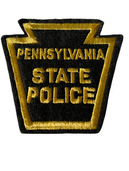 PENNSYVANIA STATE POLICE BLACK  BORDER PATCH
