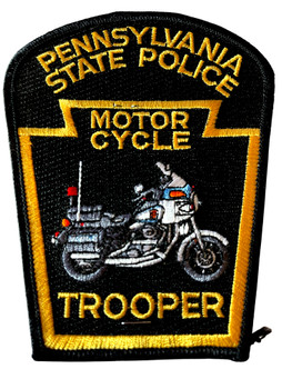 PENNSYVANIA STATE POLICE MOTOCYCLE TROOPER PATCH