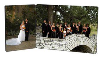 Hardboard Panel Hinged Dual Photo Small & Large