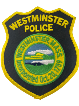 WESTMINSTER MA POLICE PATCH BLACK