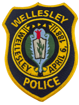 WELLESLEY MA POLICE PATCH BLACK