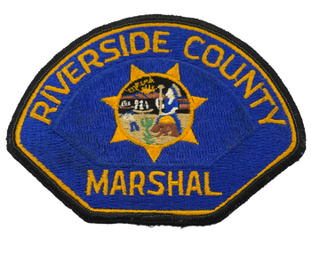 RIVERSIDE COUNTY CA MARSHAL PATCH