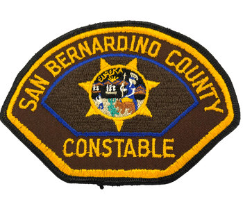 SAN BERNARDINO COUNTY CA CONSTABLE PATCH