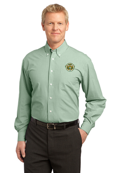 Clay Sheriff Port Authority® Plaid Pattern Easy Care Shirt