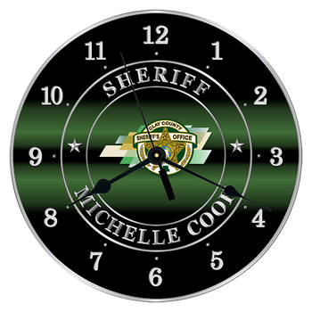 "Clay Sheriff 10"" CLOCK"