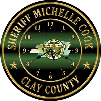 "Clay Sheriff 15"" CLOCK"
