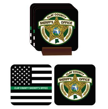 Clay Sheriff HARDBOARD COASTERS