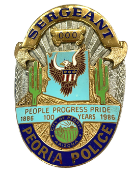PEORIA POLICE SERGEANT 100 YEARS