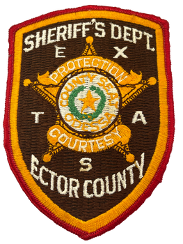 ECTOR COUNTY SHERIFF TX PATCH