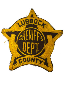 LUBBOCK COUNTY SHERIFF TX PATCH