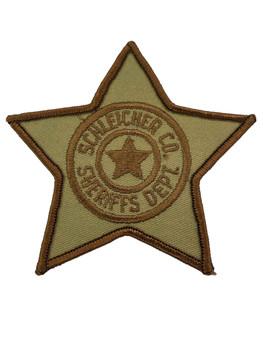 SCHLEICHER COUNTY SHERIFF TX PATCH