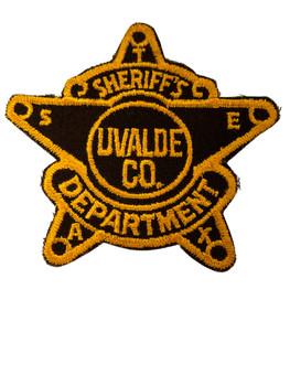 UVALDE COUNTY SHERIFF TX PATCH