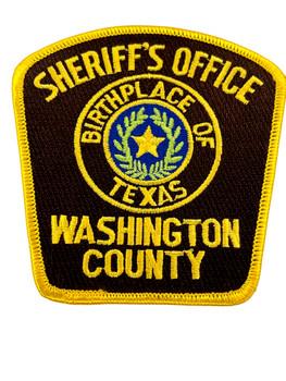 WASHINTON  COUNTY SHERIFF TX PATCH