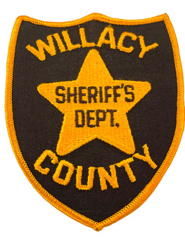 WILLACY  COUNTY SHERIFF TX BROWN PATCH