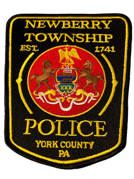 NEWBERRY TWP  POLICE PA GOLD PATCH