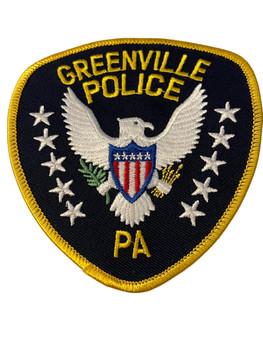 GREENVILLE POLICE PA PATCH